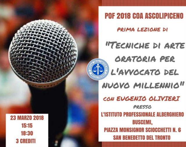 POF 2018 COA Ascoli Piceno 23.03.2018